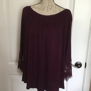 3XL Liberty Love Mulberry Peasant Blouse